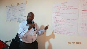 AEE Rwanda CEO sharing at CSO meeting