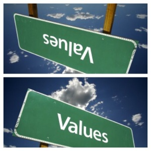 Values can upside down or straight